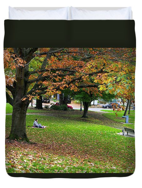 Under The Shade Tree Duvet Cover