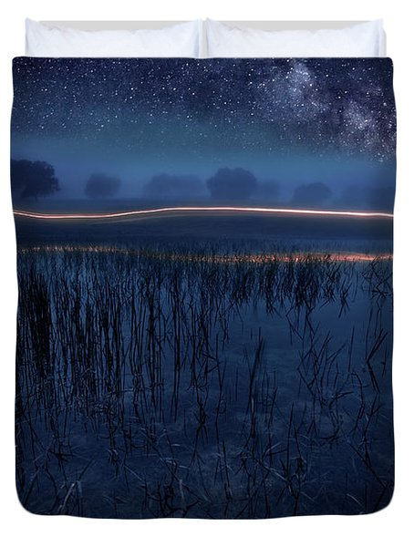 Under The Shadows Duvet Cover