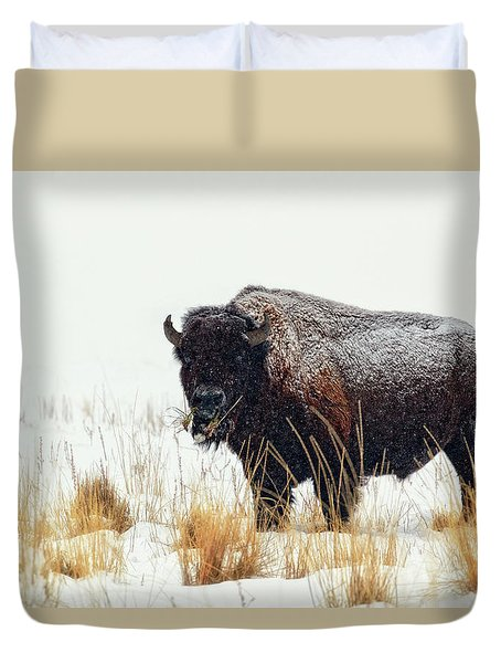 Under The Snow Duvet Cover by Joan Escala