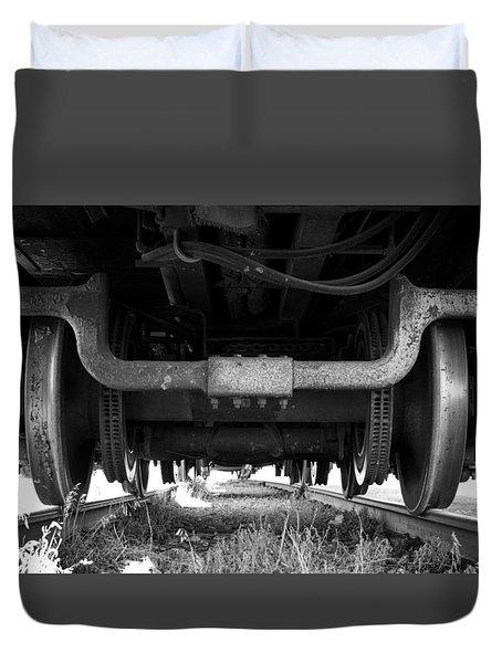Under The Train Duvet Cover