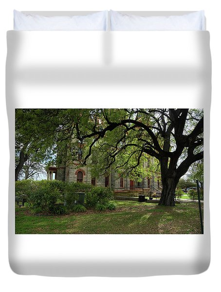 Duvet Cover featuring the photograph Under The Tree F5622a by Ricardo J Ruiz de Porras
