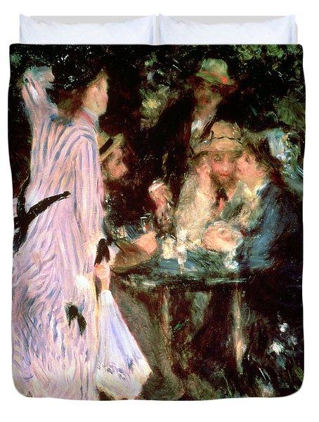 Under The Trees Of The Moulin De La Galette Duvet Cover by Pierre Auguste Renoir