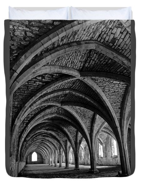 Under The Vaults. Vertical. Duvet Cover