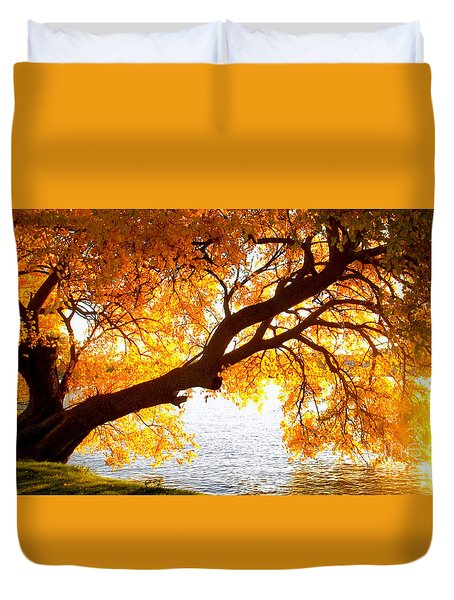 Under The Yellow Tree Duvet Cover