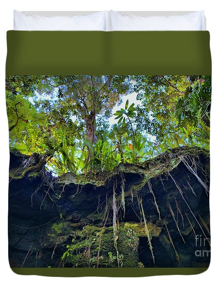 Duvet Cover featuring the photograph Underground by DJ Florek