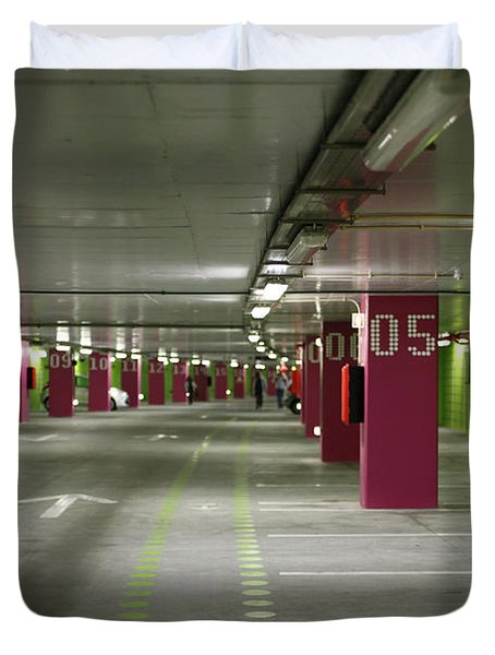 Underground Parking Lot Duvet Cover by Gaspar Avila