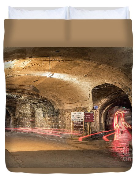 Underground Tunnels In Guanajuato, Mexico Duvet Cover by Juli Scalzi