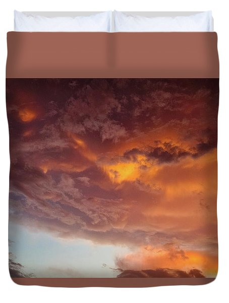 Underneath The Storm Duvet Cover by Ken Stanback