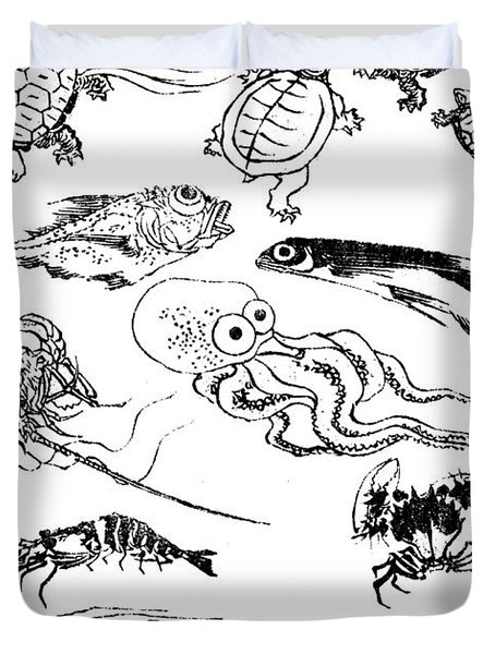 Undersea Creatures, From A Manga Duvet Cover