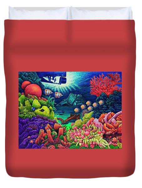 Undersea Creatures Vii Duvet Cover