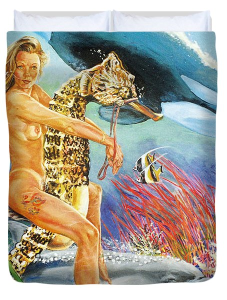 Undersea Fantasy Duvet Cover by Bryan Bustard