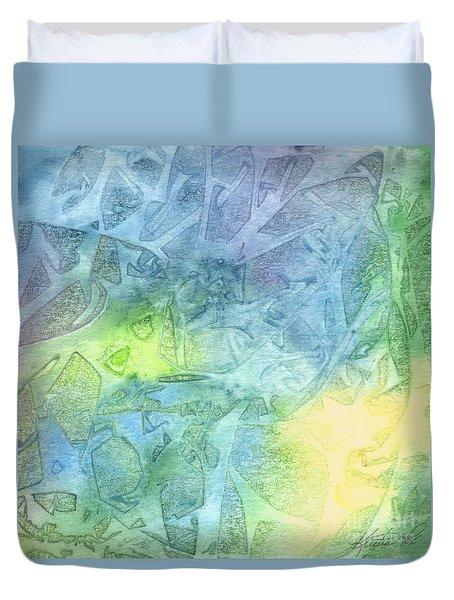 Undersea Luminescence Duvet Cover