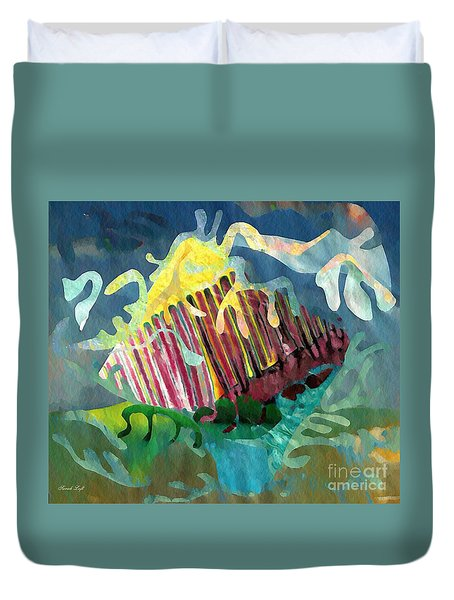 Undersea Still Life Duvet Cover by Sarah Loft