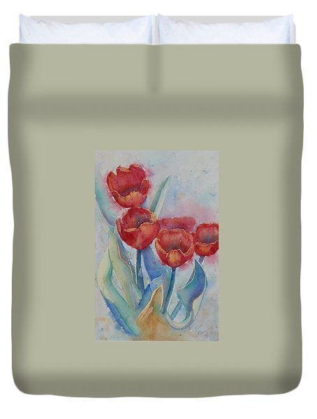Undersea Tulips Duvet Cover