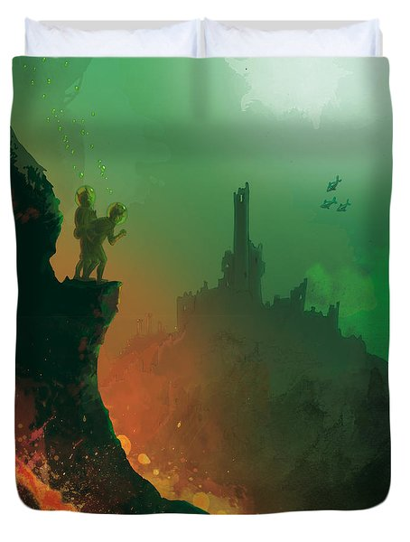 Undersea Volcano Duvet Cover by Andy Catling