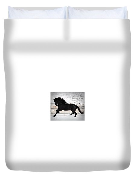 Understand The Soul Of A Horse Duvet Cover