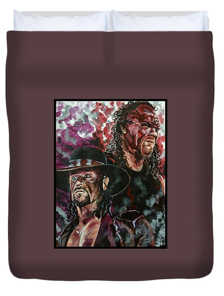 Undertaker And Kane Duvet Cover