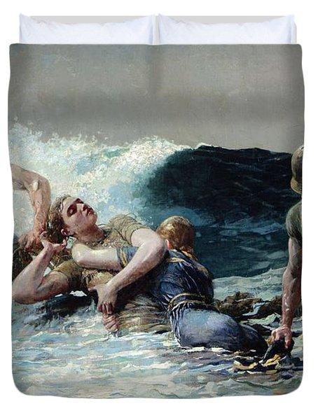 Undertow Duvet Cover by Winslow Homer