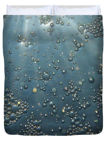 Underwater Bubbles Duvet Cover