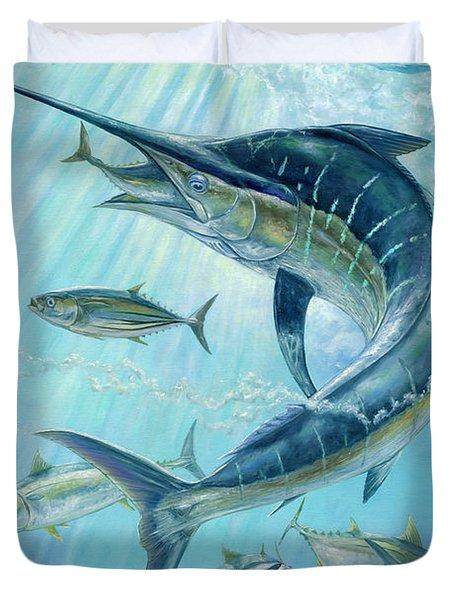 Underwater Hunting Duvet Cover