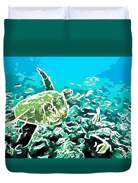 Underwater Landscape 1 Duvet Cover by Lanjee Chee
