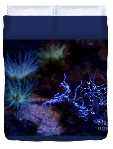 Duvet Cover featuring the digital art Underwater Landscape by Leo Symon