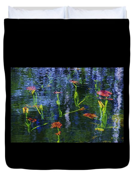 Underwater Lilies Duvet Cover