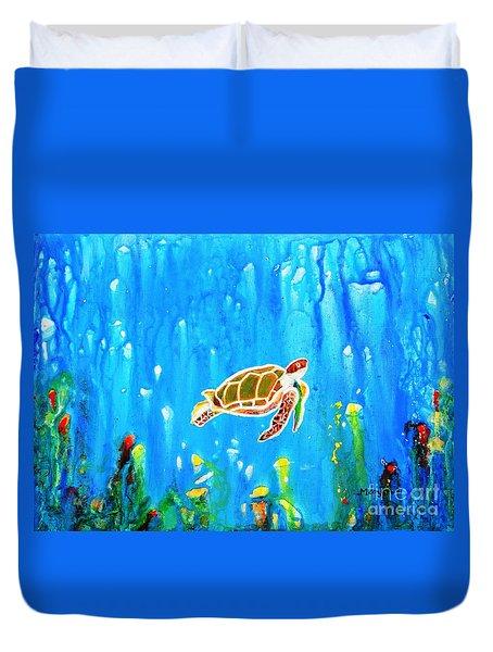 Underwater Magic 5-happy Turtle Duvet Cover