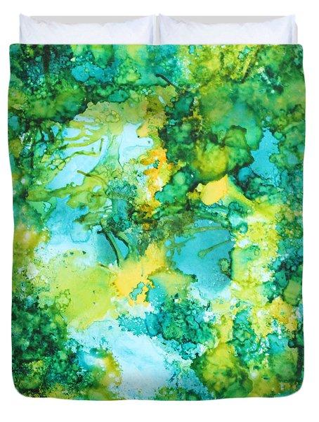 Underwater Map Duvet Cover