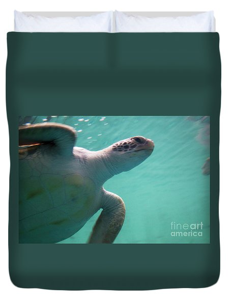 Underwater Race Duvet Cover