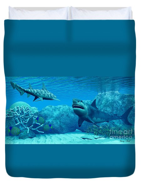 Underwater World Duvet Cover by Corey Ford