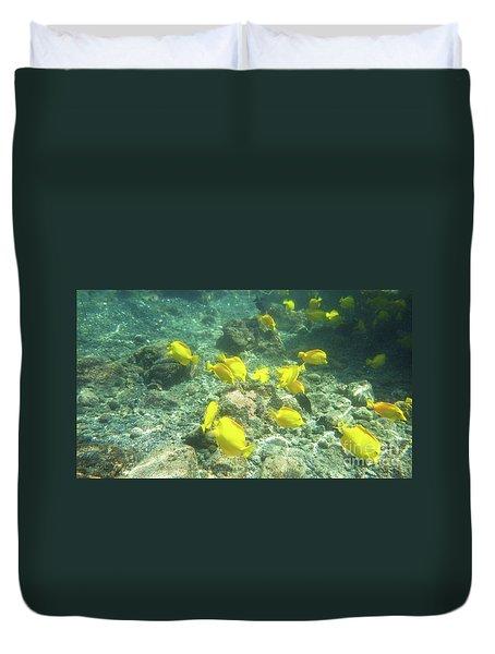 Underwater Yellow Tang Duvet Cover