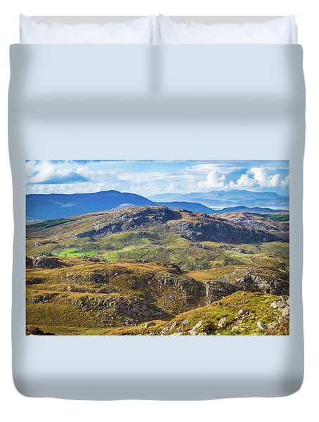 Duvet Cover featuring the photograph Undulating Landscape In Kerry In Ireland by Semmick Photo