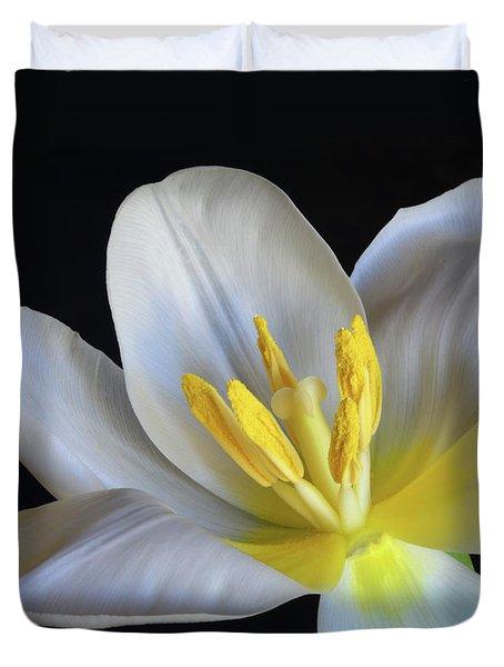 Unfolding Tulip. Duvet Cover