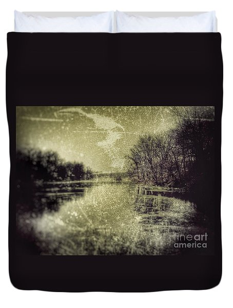 Unfrozen Lake Duvet Cover