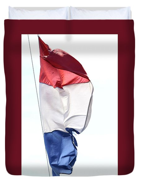 Duvet Cover featuring the photograph Unfurl 01 by Stephen Mitchell
