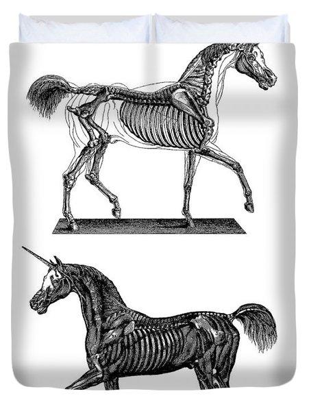 Unicorn Anatomy Duvet Cover