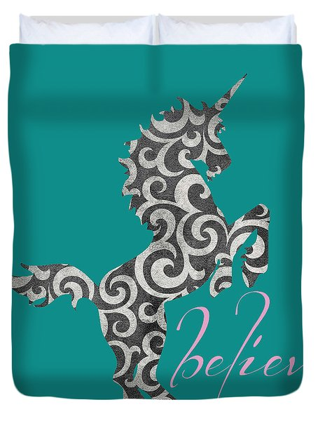 Unicorn Believe  Duvet Cover