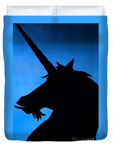 Duvet Cover featuring the photograph Unicorn by Craig B