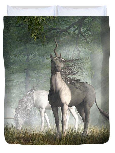 Unicorn Duvet Cover by Daniel Eskridge