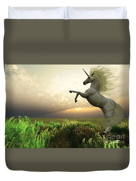 Unicorn Stag Duvet Cover by Corey Ford
