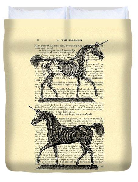 Unicorns Anatomy Duvet Cover
