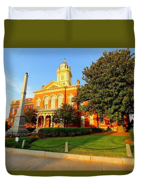 Duvet Cover featuring the photograph Union County Court House 10 by Joseph C Hinson Photography