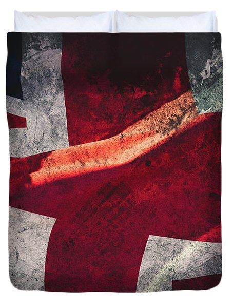 Union Jack Fine Art, Abstract Vision Of Great Britain Flag Duvet Cover