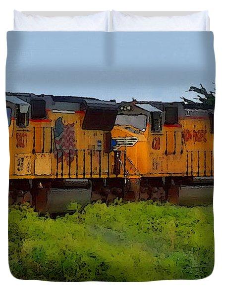 Union Pacific Line Duvet Cover