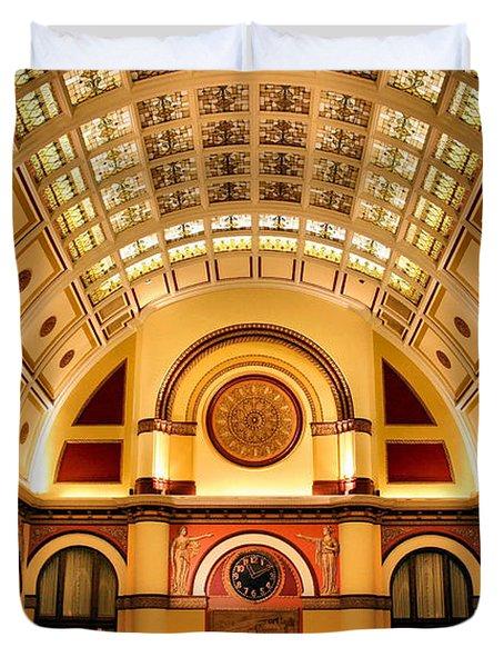 Union Station Balcony Duvet Cover by Kristin Elmquist