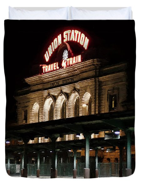 Union Station Denver Colorado Duvet Cover by Ken Smith