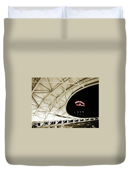 Duvet Cover featuring the photograph Union Station Denver by Marilyn Hunt