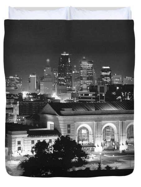 Union Station In Black And White Duvet Cover