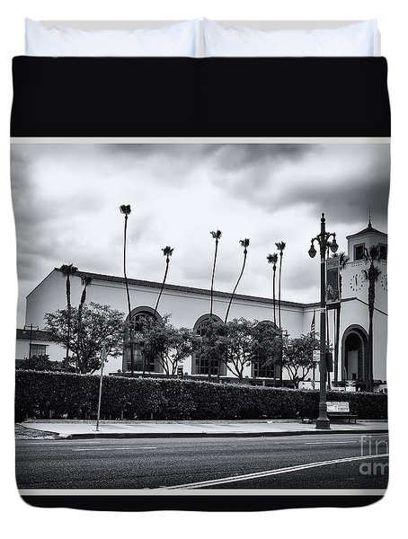 Union Station In Los Angeles Duvet Cover